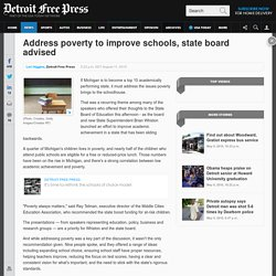 Address poverty to improve schools, state board advised