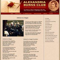 Address to a Haggis by Robert Burns