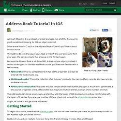 Address Book Tutorial in iOS