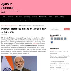 PM Modi addresses Indians on the tenth day of lockdown - □jaipur □onnect