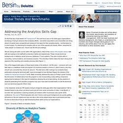 Addressing the Analytics Skills Gap