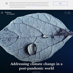 Addressing climate change post-coronavirus
