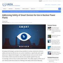 Addressing Safety of Smart Devices for Use in Nuclear Power Plants