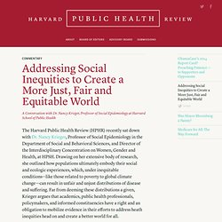 Addressing Social Inequities to Create a More Just, Fair and Equitable World