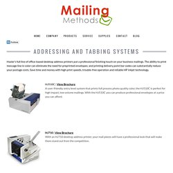 Mailing Solutions Addressing & Tabbing Systems at St Louis