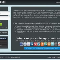 Free Twitter Followers, YouTube Subscribers, Facebook Likes, Traffic Exchange..etc