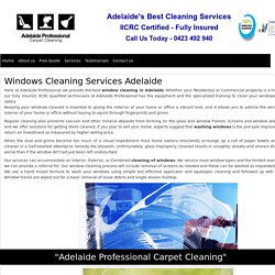 Windows Cleaning Services Adelaide