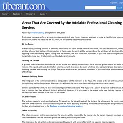 Areas That Are Covered By the Adelaide Professional Cleaning Services