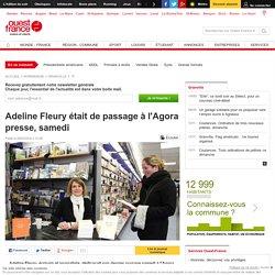 Adeline Fleury était de passage à l'Agora presse, samedi
