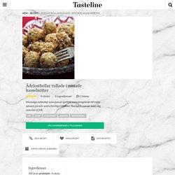 Ädelostbollar rullade i rostade hasselnötter - Recept - Tasteline.com