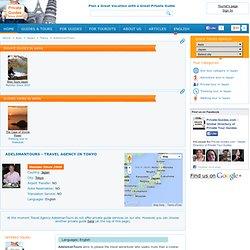 Travel Agency -AdelsmanTours in Tokyo. Japan