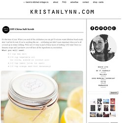 DIY Citrus Salt Scrub