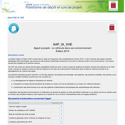 ADEME Aàp - Appel - Description