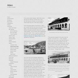 Aden - In Days of Empire