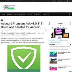Adguard Premium Apk v3.0.315 Download & Install for Android - TechMint