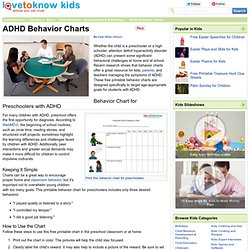 ADHD Behavior Charts
