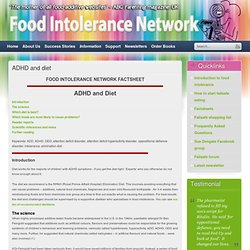 ADHD and diet - Food Intolerance Network