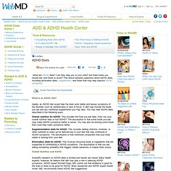 ADHD Diets for Children and Adults