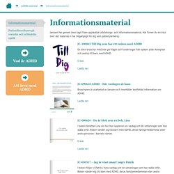 ADHD - Informationsmaterial