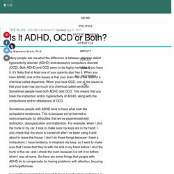 Is It ADHD, OCD or Both?