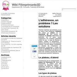 L'adhérence, un problème ? Les solutions « Wiki Filimprimante3D