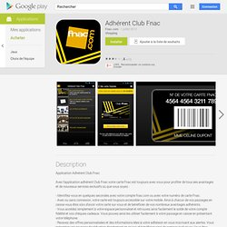 Adhérent Club Fnac