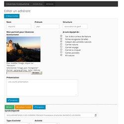 Editer adhérent - Cévennes Ecotourisme