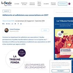 Adhérents et adhésions aux associations en 2017