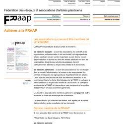 Adhérer à la FRAAP