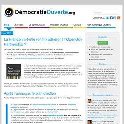 La France va-t-elle (enfin) adhérer à l'OpenGov Partnership ?