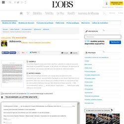 Adhésion : Refus d'adhésion (Association) - Adhésion - ABC-Lettres par l'Obs