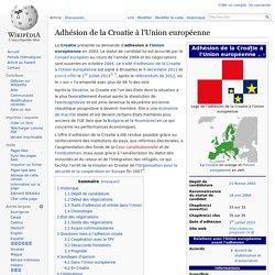 Adhésion de la Croatie à l'Union européenne