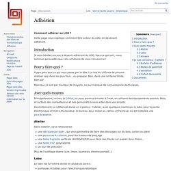 Adhésion — Wiki LOGre