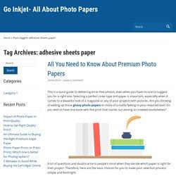 adhesive sheets paper