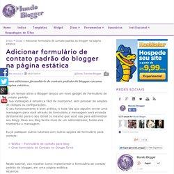 Adicionar formulário de contato padrão do blogger na página estática