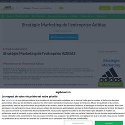 Adidas et sa stratégie marketing