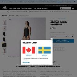 adidas solid swimsuit - Svart