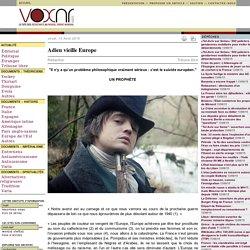 Adieu vieille Europe Rédaction voxnr.com