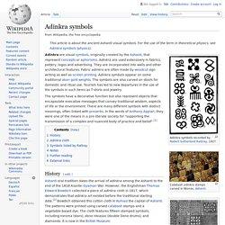 Adinkra symbols