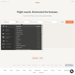 Adioso - the best flights to Anywhere in a single search