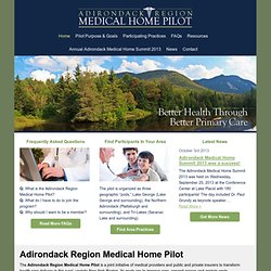Home « Adirondack Region Medical Home Pilot