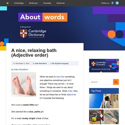 About Words - Cambridge Dictionaries Online blog