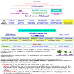 Adjective and A List of Adjectives: EnchantedLearning.com