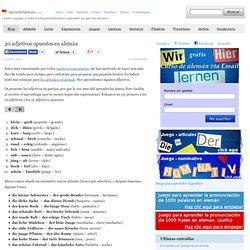 20 adjetivos opuestos en alemán