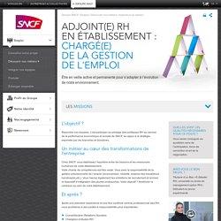 Adjoint RH en établissement : Chargé de la gestion de l'emploi (h/f)