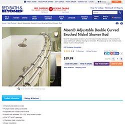 Moen® Adjustable Double Curved Brushed Nickel Shower Rod