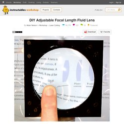 DIY Adjustable Focal Length Fluid Lens : 15 Steps (with Pictures) - Instructables