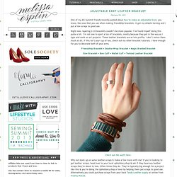 Adjustable Knot Leather Bracelet