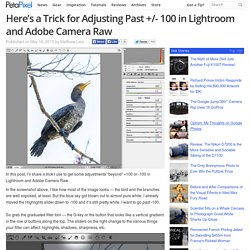 Here's a Trick for Adjusting Past +/- 100 in Lightroom and Adobe Camera Raw