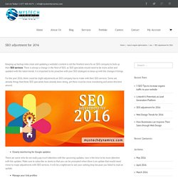 SEO adjustment for 2016 - SEO Company and Services